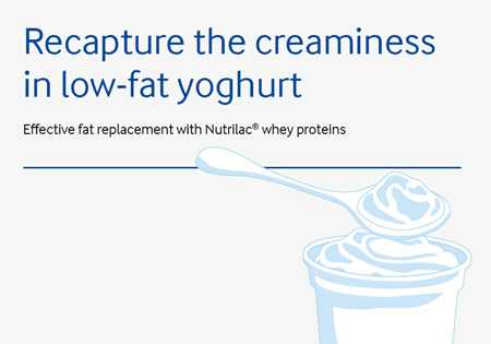 Recapture the creaminess in low-fat yoghurt