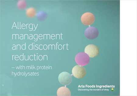 Allergy management and discomfort reduction with milk protein hydrolysates brochure
