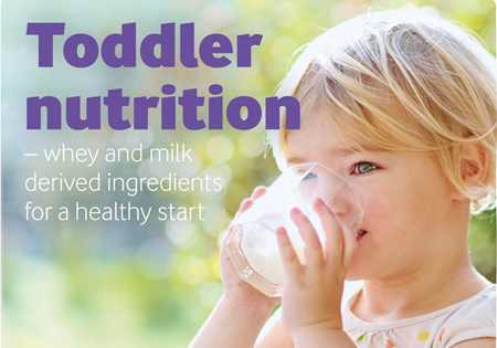 Toddler foods for a healthy development brochure